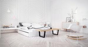 Scandinavian bedroom style